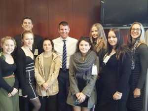 Maria unit visits NSW Parliament