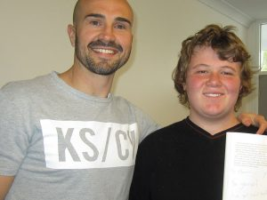 Motivational speaker Luke S. Kennedy visits Dunlea Centre