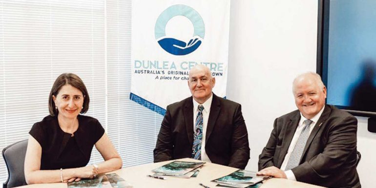 Premier of New South Wales, Gladys Berejiklian Visits Dunlea Centre