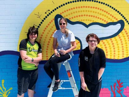 Dunlea Dharawal Walk Features Caitlin Trindall's Mural