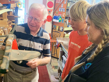 Dunlea Visits Sutherland Shire Toy Restoration Centre